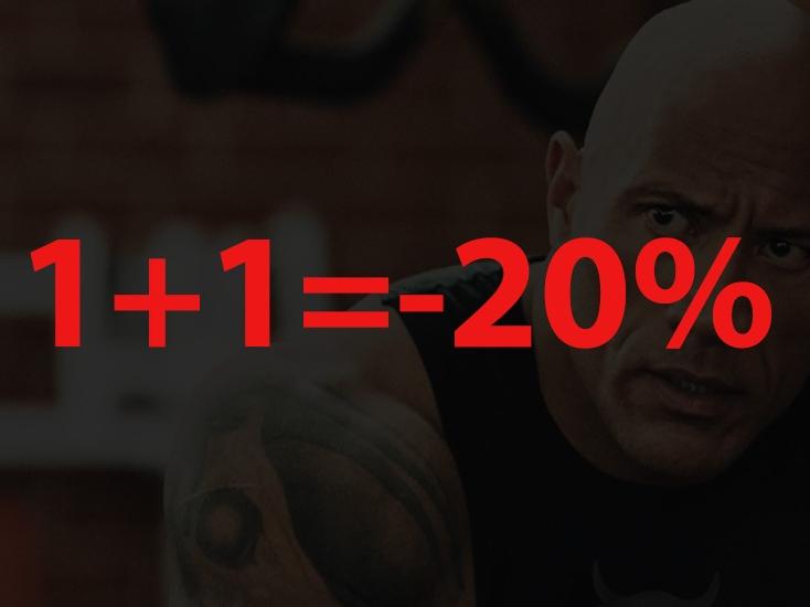 Промоция 1+1=-20%