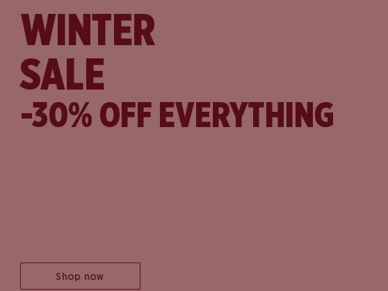 Winter sale -30% off Everything